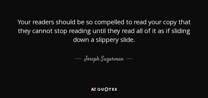 slippery slide strategy joe sugarman